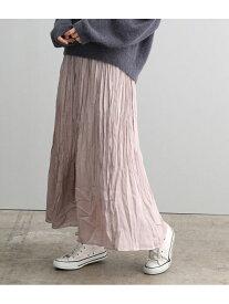 SALON adam et rope' 【ドラマ着用】サテン楊柳プリーツスカート サロン アダム エ ロペ スカート スカートその他 ベージュ ブルー【送料無料】
