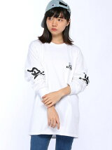 X-girlxJUNGLES SPHINX LOGO L/S TEE