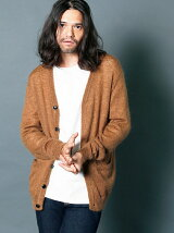 WOOL MOHAIR V/N KNIT CARDIGAN