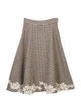 裾レースフレアスカート