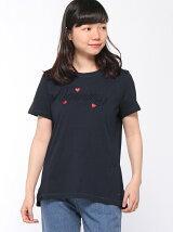(W)ロゴエンブロイダリーTシャツ