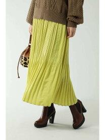 ROSE BUD プリーツロングスカート ローズバッド スカート スカートその他 イエロー ブラウン ブルー【送料無料】