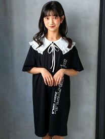 【SALE/44%OFF】ZIDDY BIG ロゴ Tシャツ ワンピース(130~160cm) ベベ オンライン ストア ワンピース シャツワンピース ブラック パープル