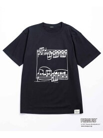 【SALE/40%OFF】WILD LIFE TAILOR Adam et Rope' 【PEANUTS * WILD LIFE TAILOR】PIANO T/UNISEX アダムエロペ カットソー カットソーその他 ブラック ホワイト イエロー【送料無料】