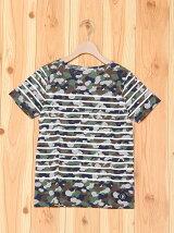 ビーミング by ビームス / プリントパネルボーダー Tシャツ BEAMS