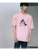 【WEB限定】テヅカフジオfor tk.TAKEO KIKUCHI アトム×バカボンのパパ Tシャツ