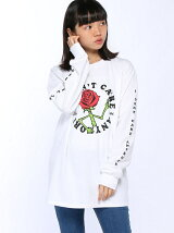 X-girlxJUNGLES I DONT CARE L/S TEE
