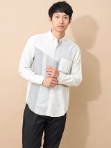 Men's 異素材切替シャツ