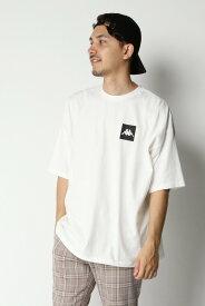 ikka KappaボックスロゴビッグT イッカ カットソー Tシャツ ホワイト ブラック ベージュ【送料無料】