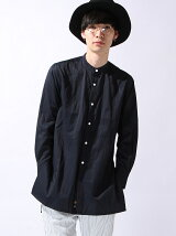 *BAND COLLAR LONG SHIRT