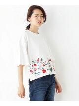 裾刺繍デザインプルオーバー