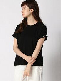 【SALE/40%OFF】To b. by agnes b. To b. by agnes b. /(W)W984 TS スリーブロゴTシャツ アニエスベー カットソー Tシャツ ブラック ホワイト