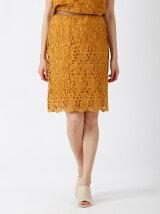 【WEB限定大きいサイズ】フラワーレースタイトスカート【Domani5月号掲載】