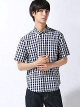 (M)オックスフォードチェックシャツ (半袖)