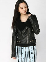 (W)VICTORIA FAUX-LEATHER JACKET