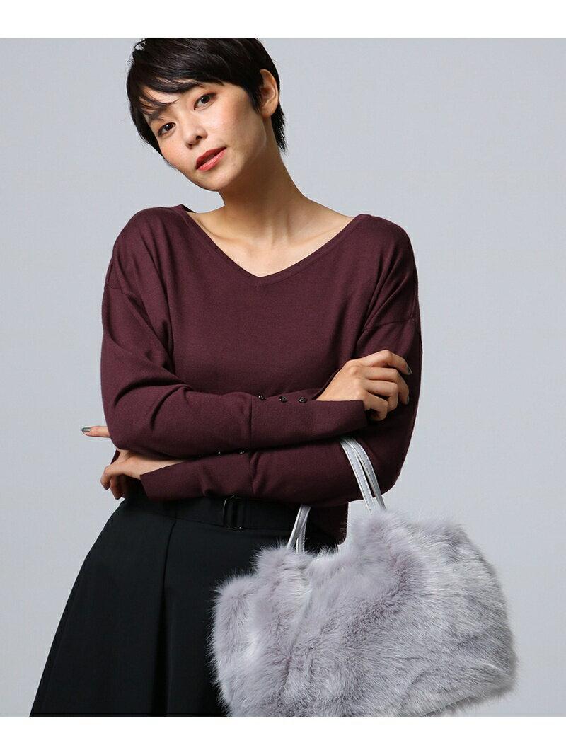 UNTITLED [L]シルクウールカシミヤVニット アンタイトル ニット【送料無料】