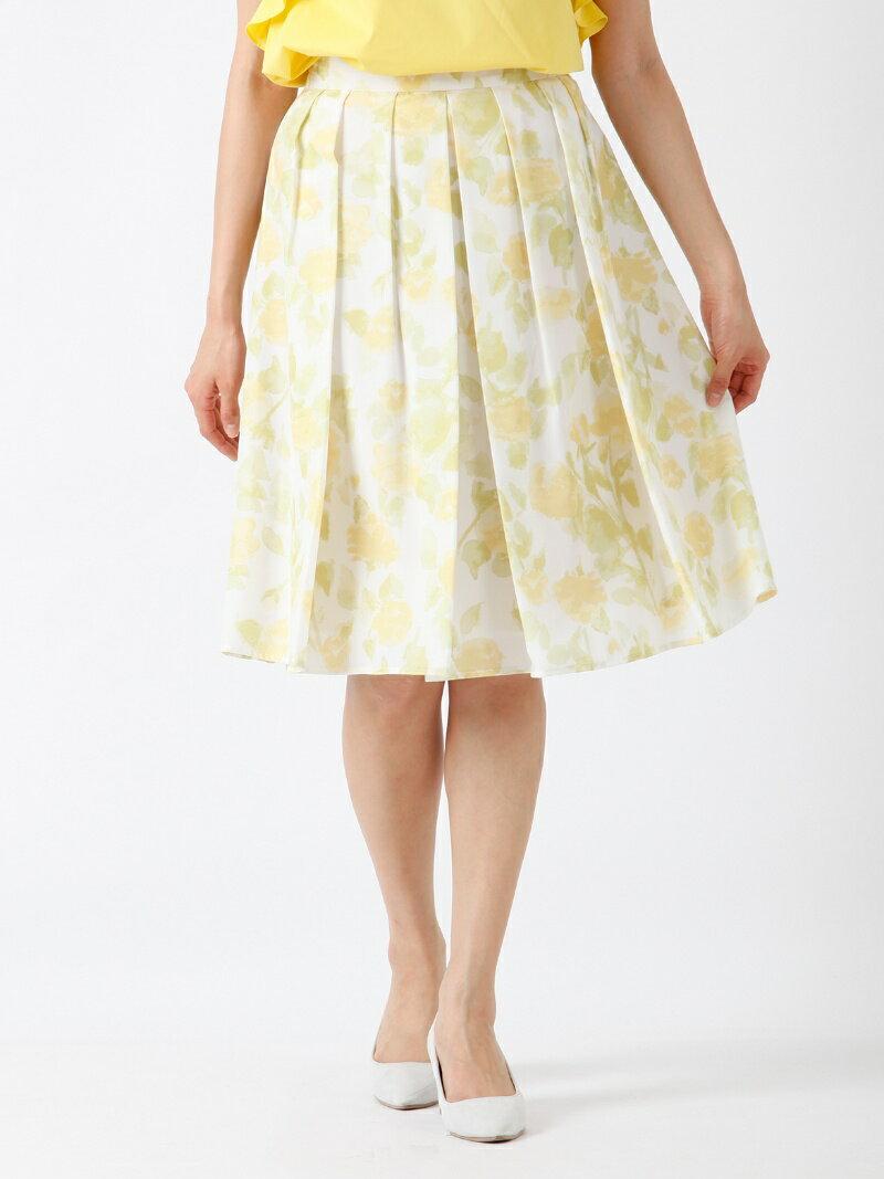 【SALE/60%OFF】CLEAR IMPRESSION 水彩フラワープリーツスカート クリアインプレッション スカート【RBA_S】【RBA_E】