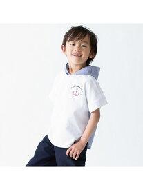 【SALE/50%OFF】COMME CA ISM 【キッズ・ベビーおそろいアイテム】フード付きビッグTシャツ コムサイズム カットソー Tシャツ ホワイト