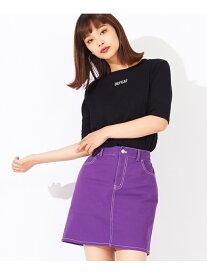 WG/(L)配色ステッチタイトミニスカート ウィゴー スカート