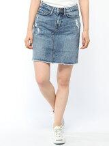 (W)デニムスカート