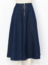 リングファスナーミディスカート