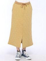 (L)波形キルティングスウェットスカート