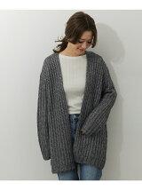 mizuiro-ind metalic yarn cardigan