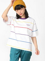 RAINBOW STRIPE S/S T