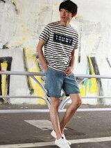 (M)Hilfiger Denim/ストライプTシャツ