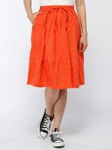 (W)フレンチリネンギャザースカート