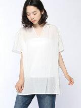 綿強撚袖刺繍チュニック