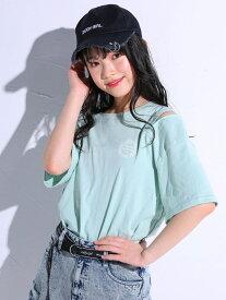 【SALE/55%OFF】ZIDDY パステルカラー ファスナー ロゴ Tシャツ(130~160cm) ベベ オンライン ストア カットソー Tシャツ ピンク グリーン