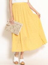 楊柳刺繍マキシスカート