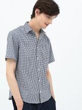 ギンガム半袖シャツ