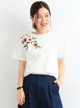 ビーミング by ビームス / フラワー刺繍 Tシャツ BEAMS