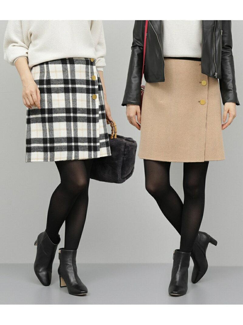 ROPE' ウールリバーチェックミニスカート ロペ スカート【送料無料】