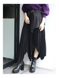 MURUA イレヘムプリーツスカート ムルーア スカート【送料無料】