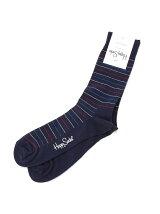 (W)【WEB店限定】【Happy Sock】ティンストライプ