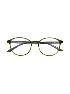 Zoff (U)ボストン型 PCメガネ(ブルーライトカット率約50%) ゾフ ファッショングッズ メガネ グリーン ブラウン【送料無料】