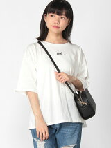 BROWNY/(L)USA COTTONロゴTシャツ