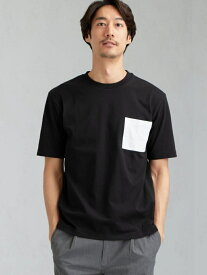 【SALE/30%OFF】UNITED ARROWS green label relaxing 【WEB限定】SCドライコンビポケットクルーTシャツ<機能性/吸水速乾># ユナイテッドアローズ グリーンレーベルリラクシング カットソー Tシャツ ブラック ホワイト レッド