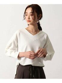 OZOC [26(S)/52(LL)WEB限定サイズ][洗える]タックスリーブカットソー オゾック カットソー Tシャツ ホワイト ブラック カーキ ベージュ レッド