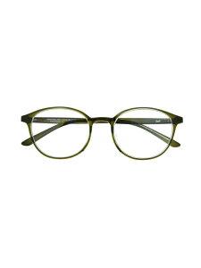 Zoff (U)ボストン型 PCメガネ(ブルーライトカット率約35%) ゾフ ファッショングッズ メガネ グリーン ブラウン【送料無料】