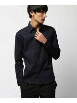 [VJS1232]タイトストレッチ レギュラーカラーシャツ