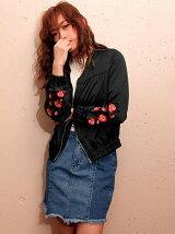 CHILLE 袖花刺繍ブルゾン