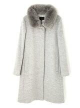 ◆大きいサイズ◆カシミヤ混ファー付ウールコート