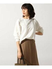 OZOC [26(S)WEB限定サイズ][洗える]手描き風ロゴロンT オゾック カットソー Tシャツ ホワイト シルバー ブラウン