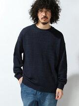【WEGO】【BROWNY STANDARD】(M)ドロップショルダーカノコセーター
