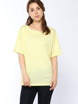 (W)VバックボーダーTシャツ (半袖)