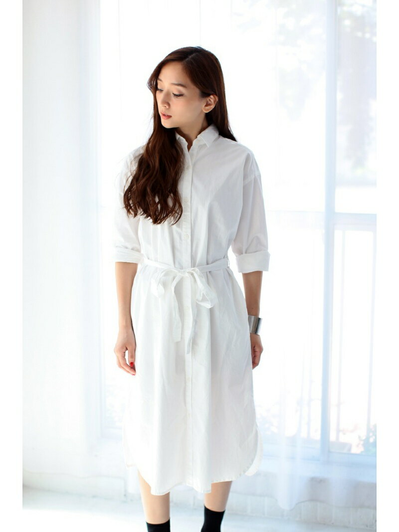 【SALE/70%OFF】AZUL by moussy ロングシャツワンピ アズールバイマウジー ワンピース【RBA_S】【RBA_E】